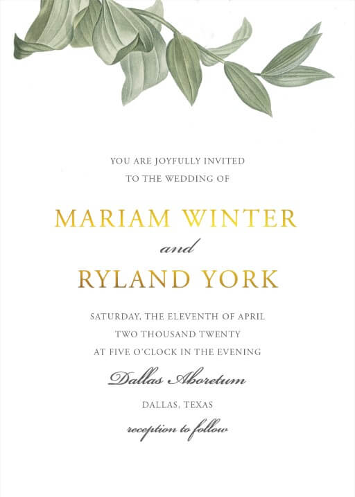Branch Wedding Invitations - wedding invitations