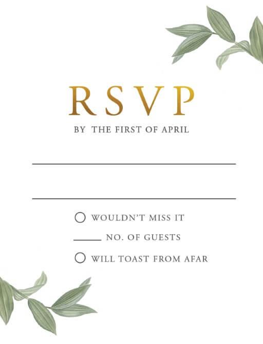 Branch - RSVP Cards
