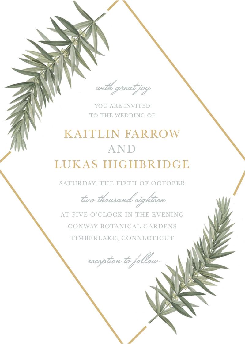 Diamond Branch - Wedding Invitations