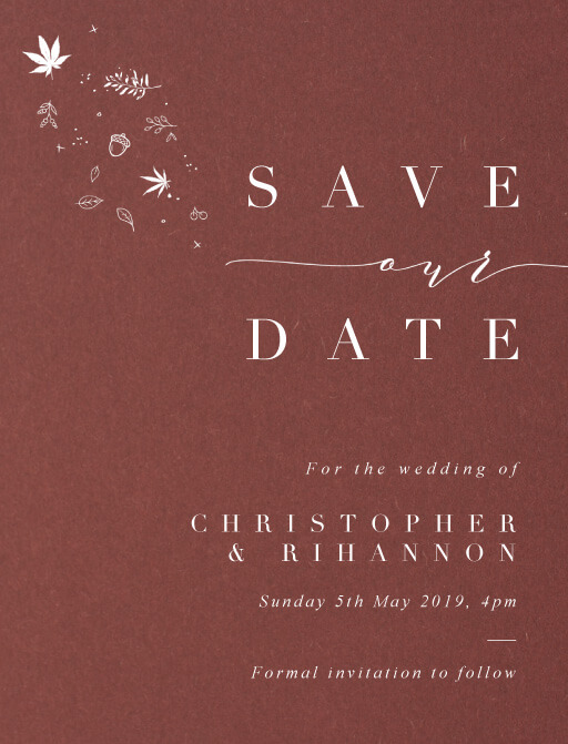 Sprinkle of Love Save The Date - Save The Date