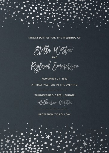 Under Stars Wedding Invitations - wedding invitations