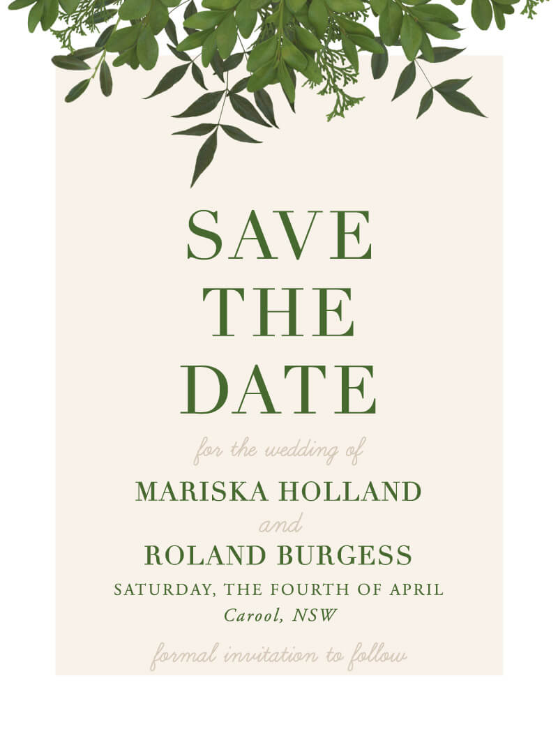 Mod Botanical - Save The Date