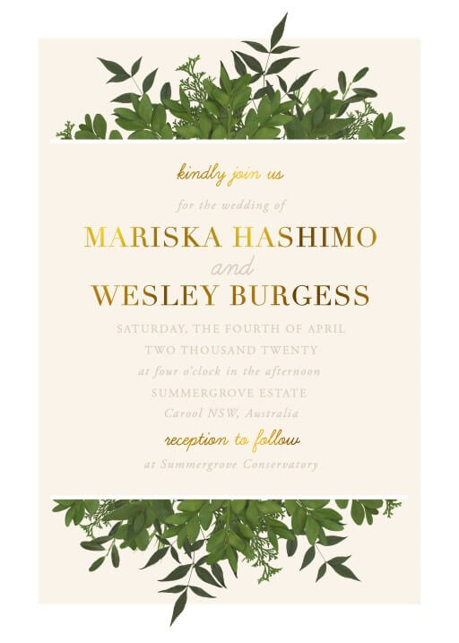 Mod Botanical Wedding Invitations - wedding invitations