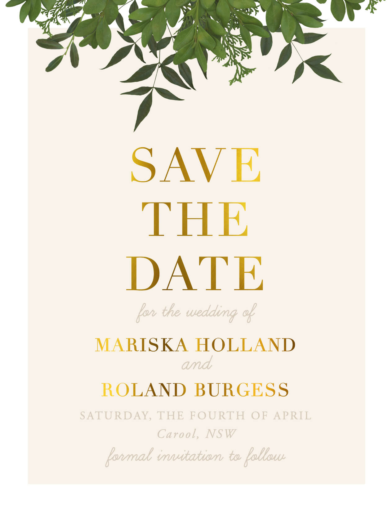 Mod Botanical Save The Date - Save The Date
