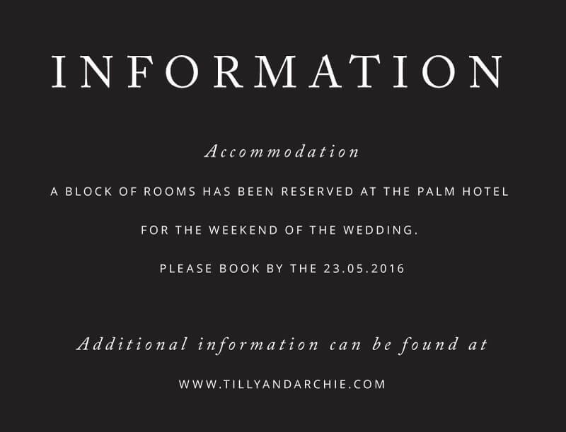 Black and White - Information