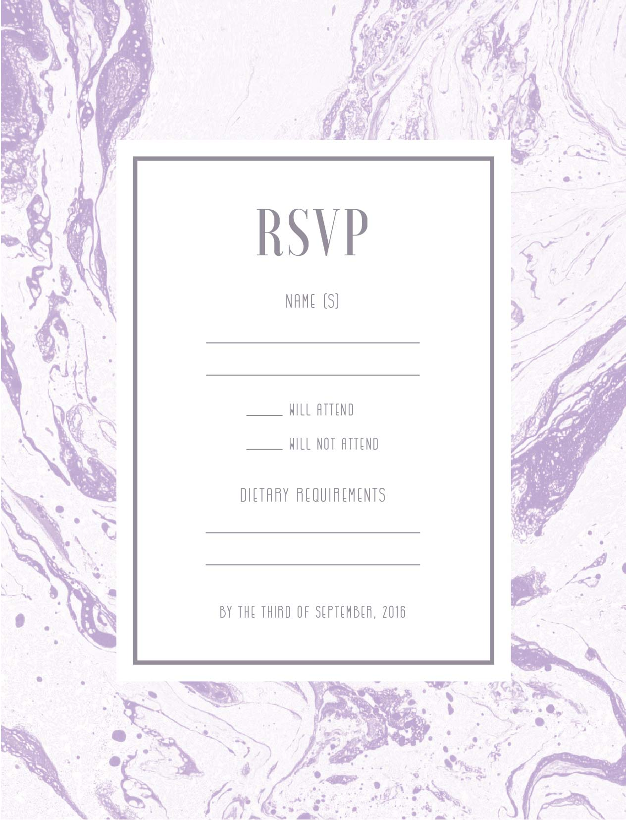 Sweet Marble - RSVP Cards