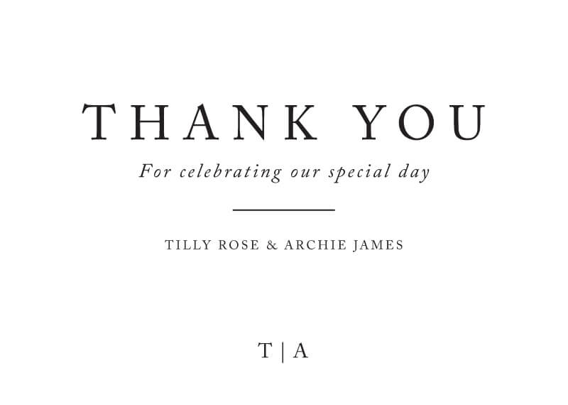 Black and White - Thank You