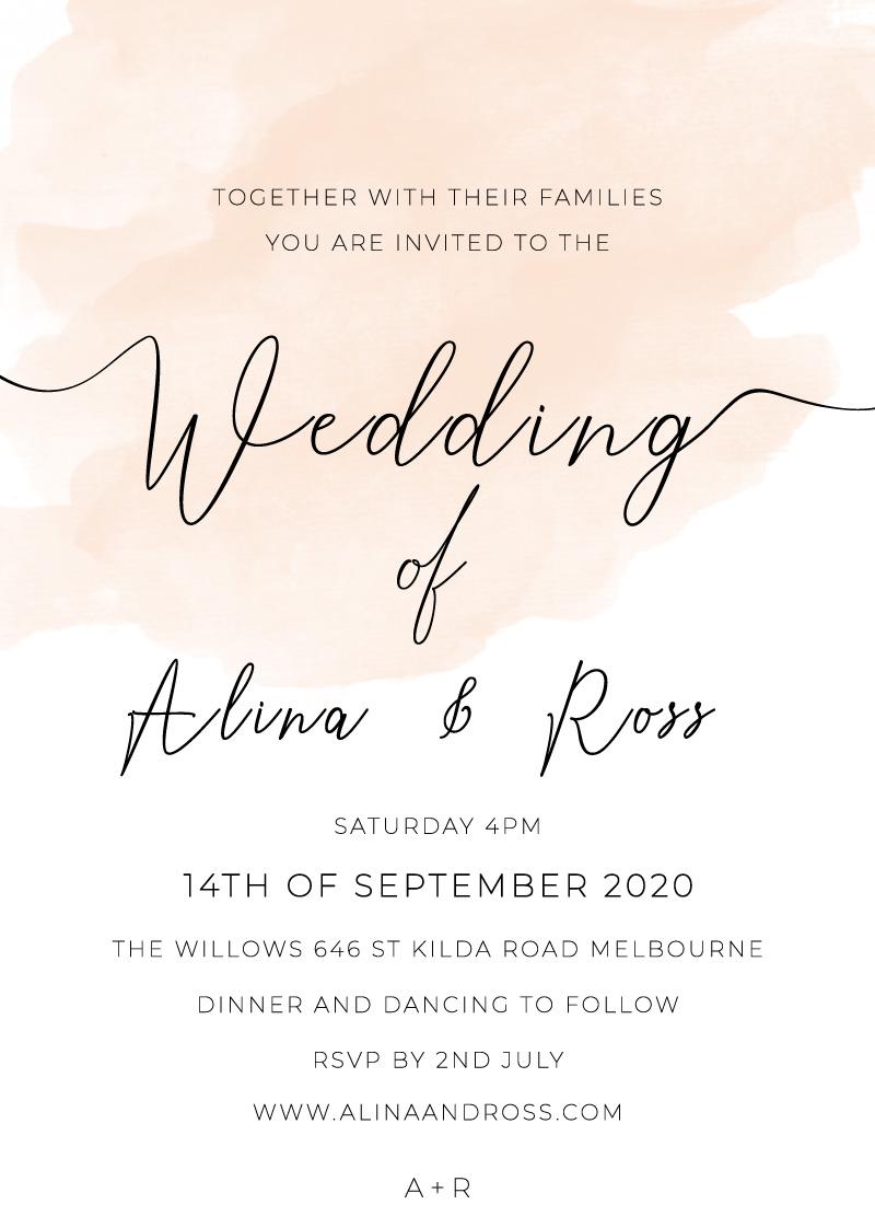 Rosey - Wedding Invitations