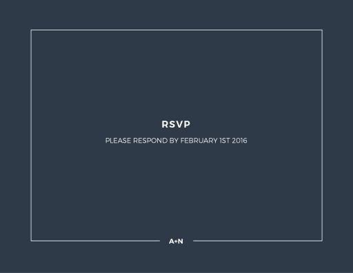 Simplicity - RSVP Cards