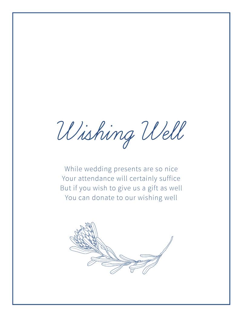 Playful Proteas - Wishing Well