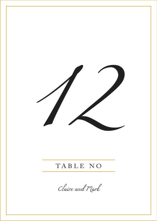 Minimal Foil - table numbers