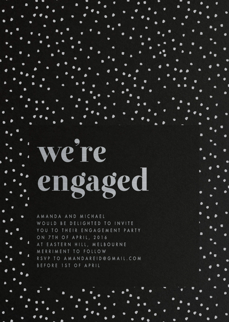 Minimalist Spot - Engagement Invitations