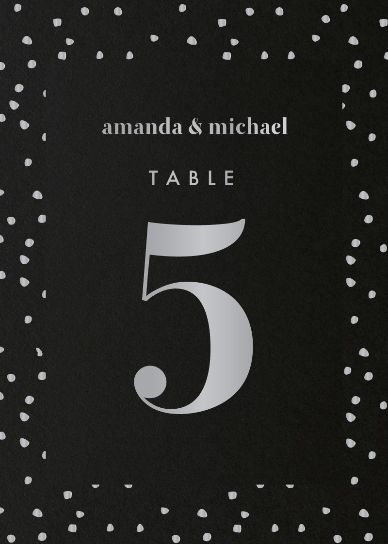 Minimalist Spot - Table Numbers