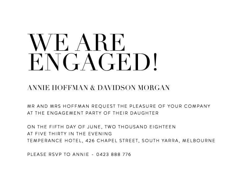 Serif Stroke - Engagement Invitations