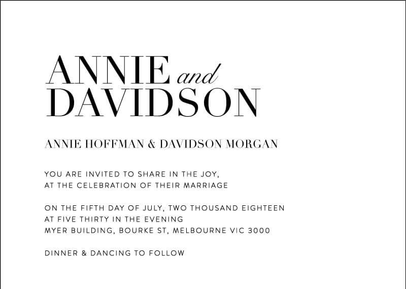 Serif Stroke - Wedding Invitations
