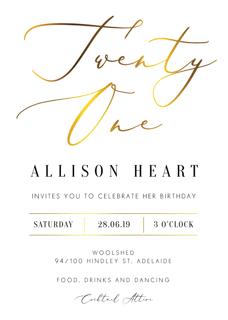 Milieu birthday - Birthday Invitations