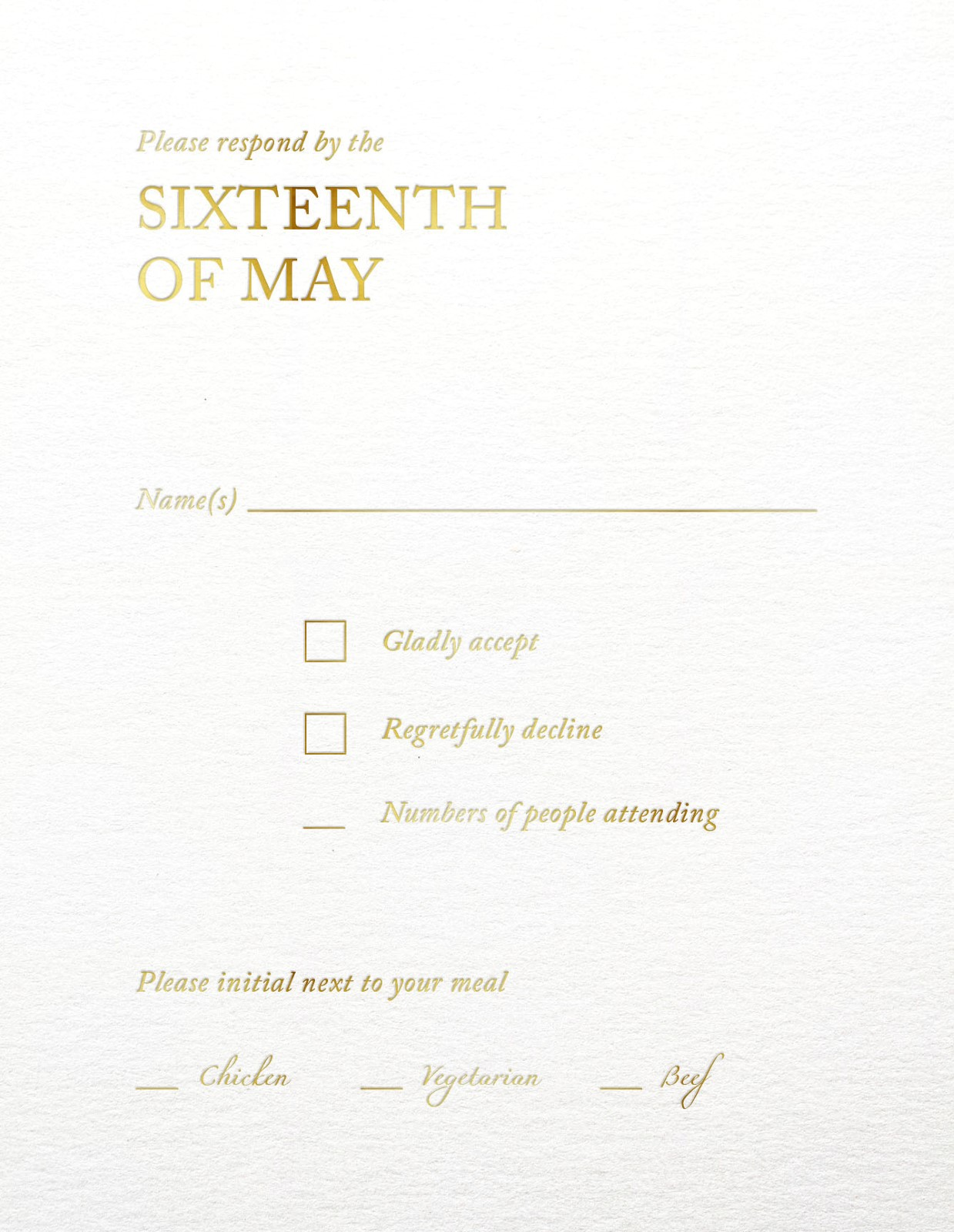 Typography - RSVP Cards
