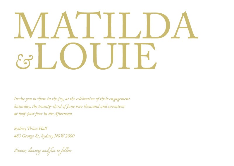 Typography - Engagement Invitations