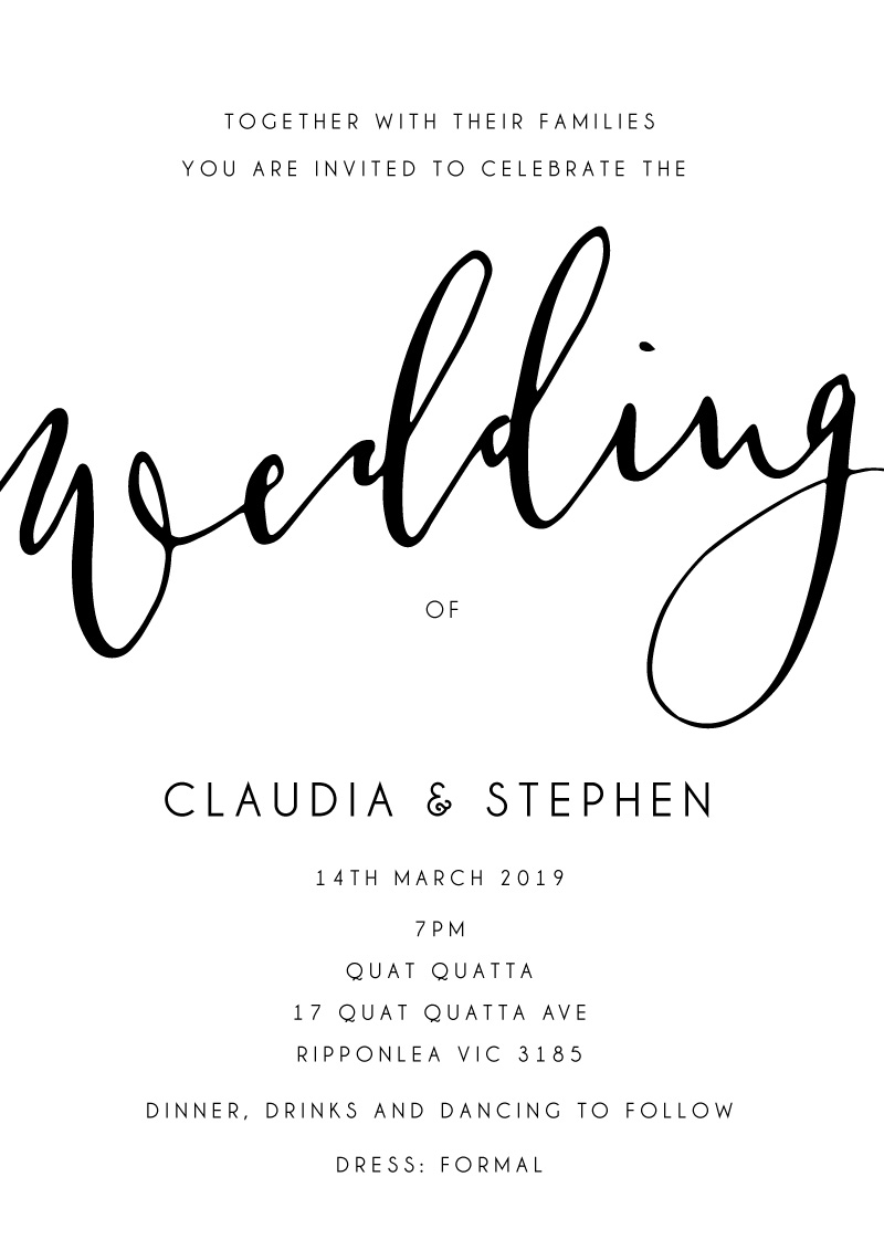 Ink and Nib - Wedding Invitations