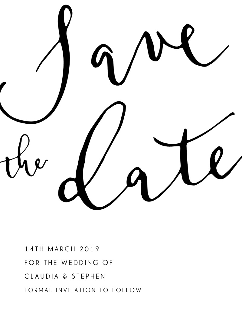 Ink and Nib - Save The Date
