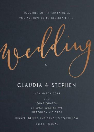 Ink and Nib Wedding Invitations - wedding invitations