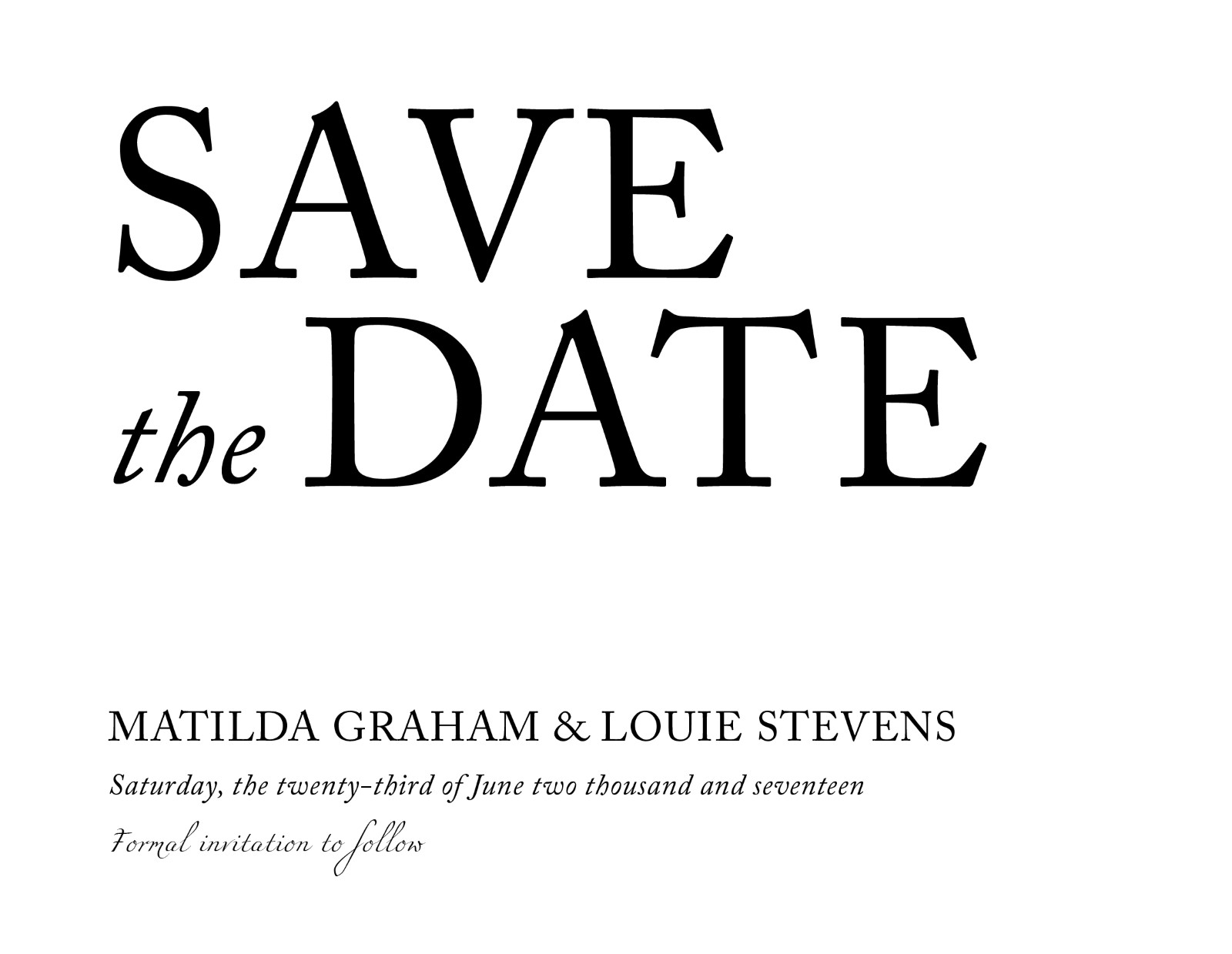 Typography - Save The Date