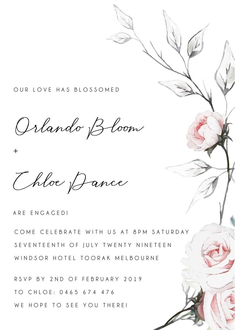 Florescence - Engagement Invitations