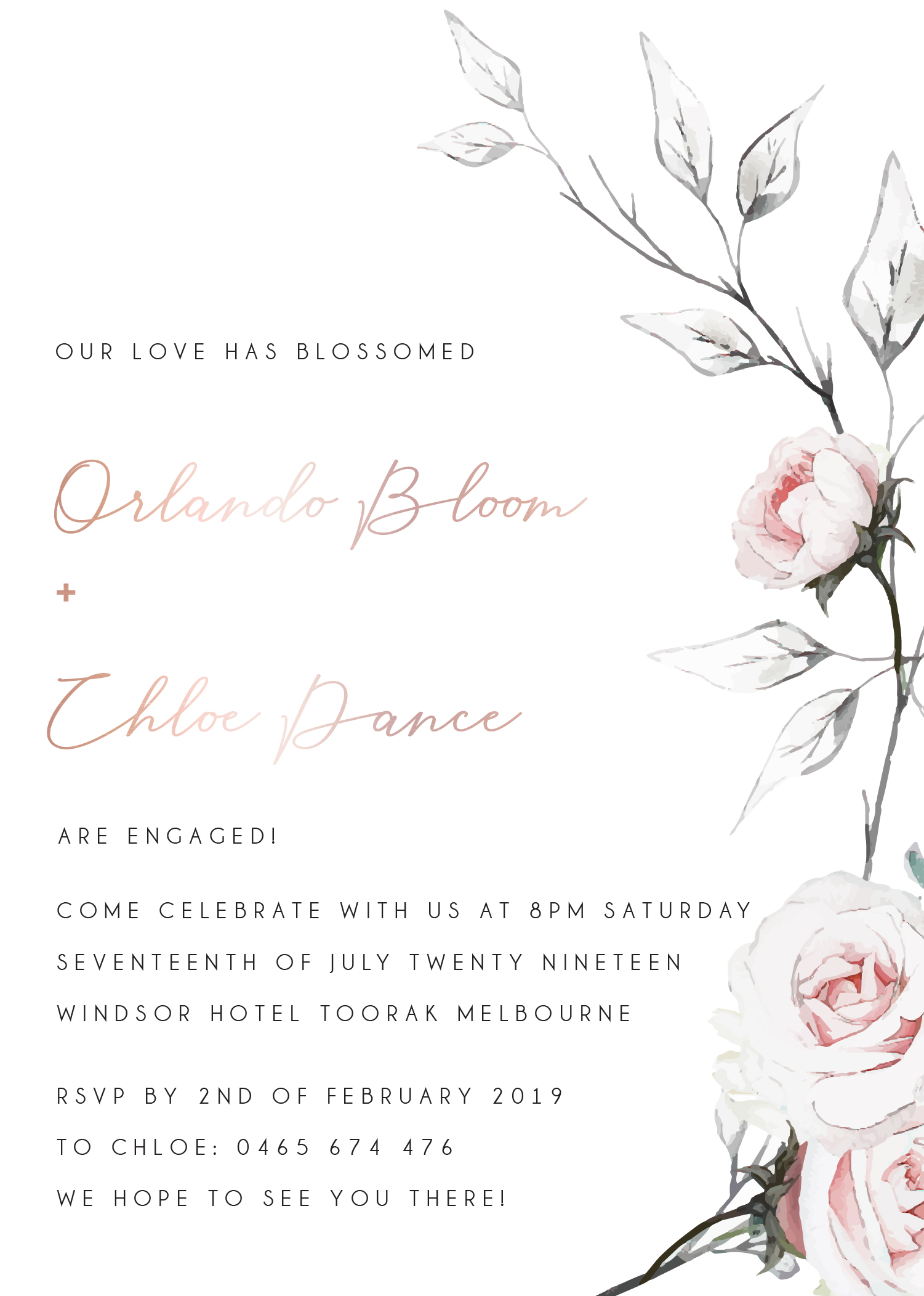 Florescence - Engagement Invitations