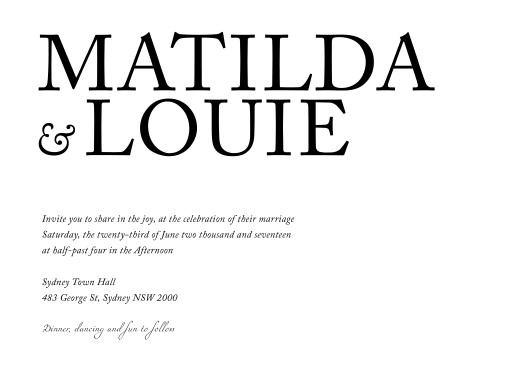 Typography - Invitations