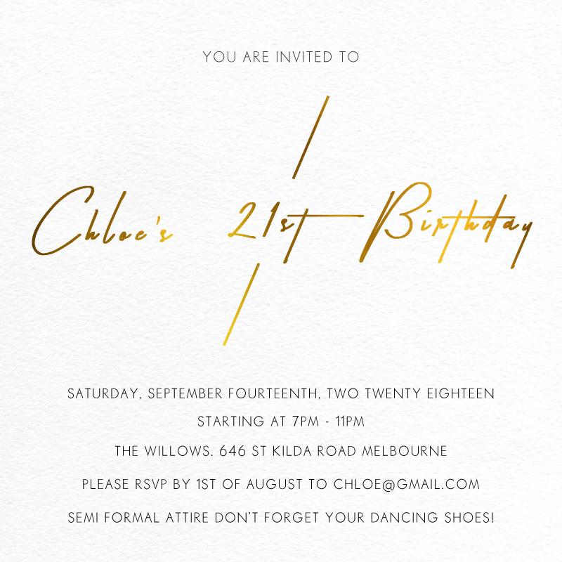 Modern Mode Birthday - Birthday Invitations