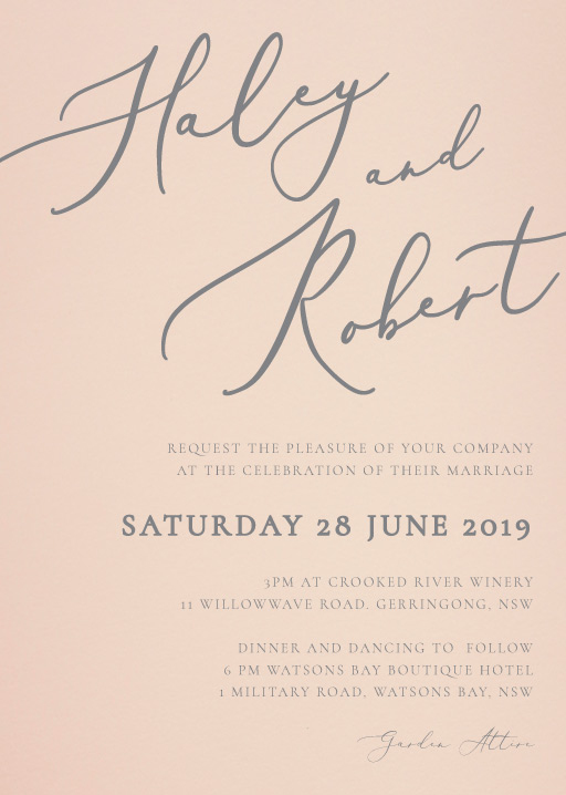 Rose et Gris Wedding Invitations - wedding invitations