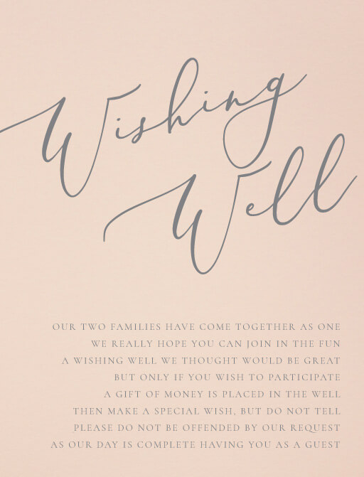 Rose et Gris - Wishing Well