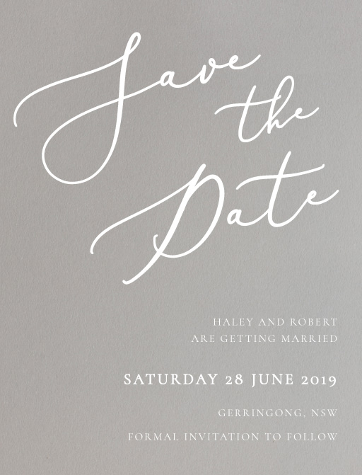 Rose et Gris Save The Date - Save The Date
