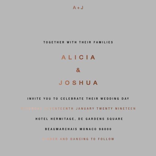 Medinilla Wedding Invitations - wedding invitations