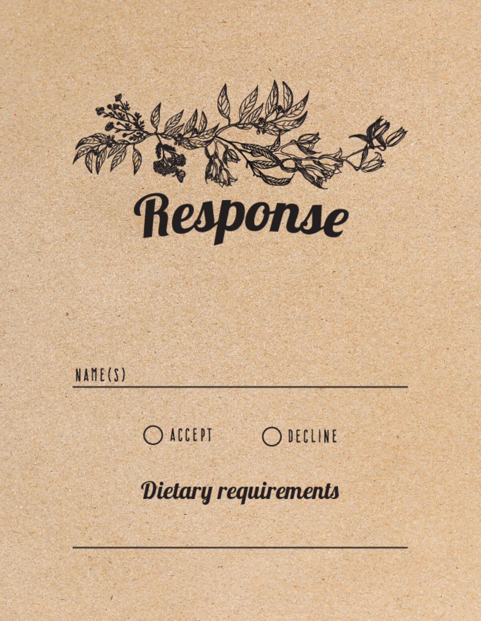 Rustic - RSVP Cards