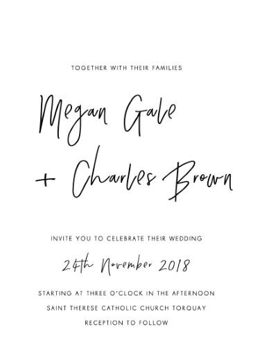 Clair De Lune - wedding invitations