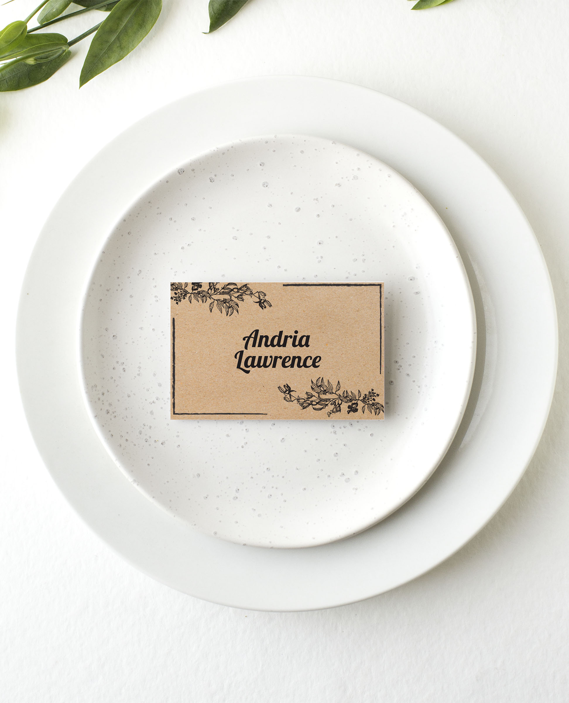 Rustic - Place Card