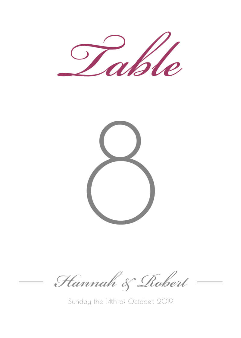 Movie Theatre - Table Numbers