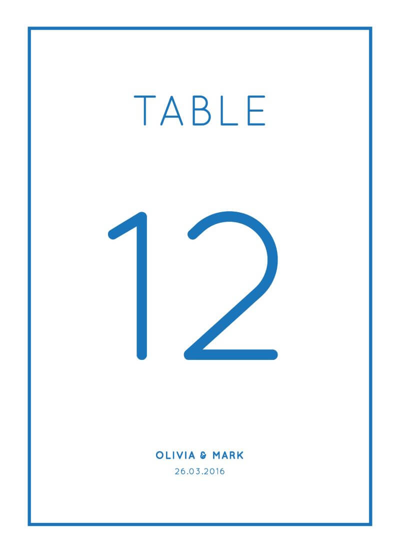 Modern - Table Numbers