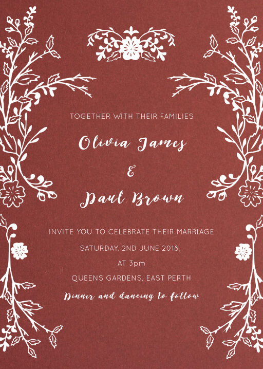 Autumn Romance Wedding Invitations - wedding invitations