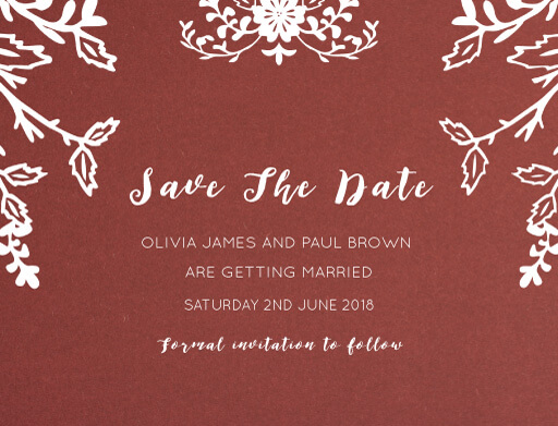 Autumn Romance Save The Date - Save The Date