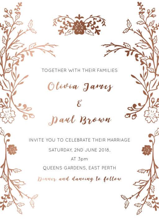 Autumn Romance Wedding Invitations - wedding invitations