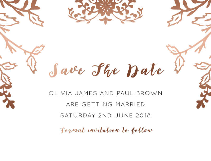 Autumn Romance - Save The Date