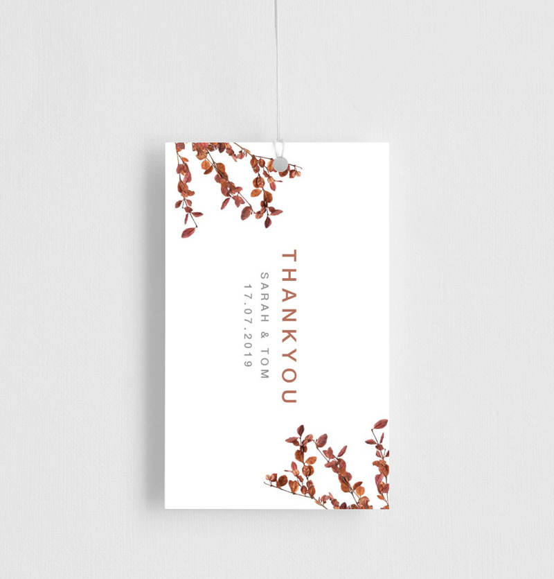 Fall leaves - Gift Tags