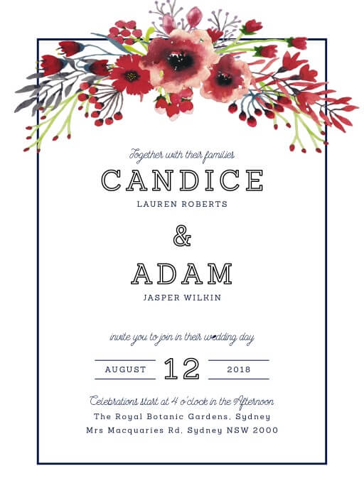Grand Burgundy Wedding Invitations - wedding invitations