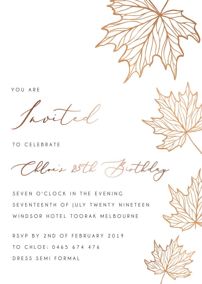 Autumn Birthday - Birthday Invitations