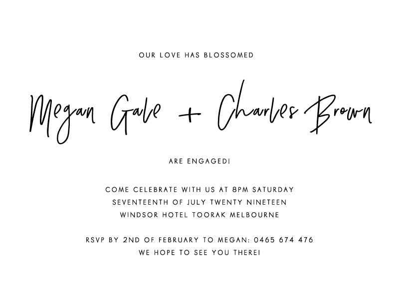 Clair De Lune - Engagement Invitations