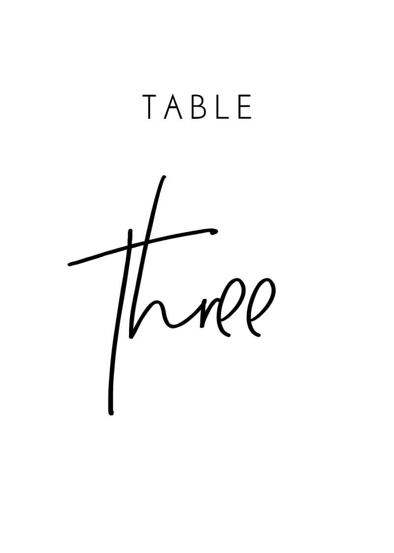 Clair De Lune - Table Numbers