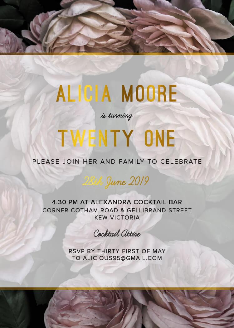 Myrtle Gentry - Birthday Invitations