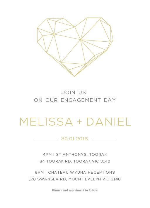 Diamond Love - engagement invitations